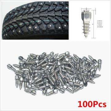 100Pcs Screw Tire Studs Spikes Racing Track Tire Ice Studs Snowmobile ATV NEW