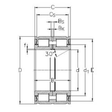 Cylindrical Bearing NNF5015-2LS-V NKE