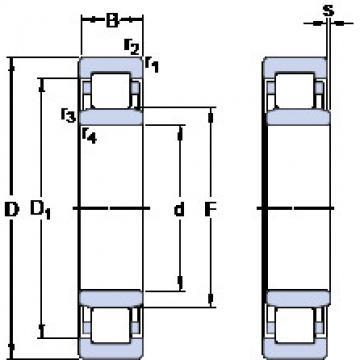 thrust ball bearing applications NU 2222 ECJ SKF