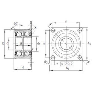 angular contact ball bearing installation ZKLR1244-2RS INA