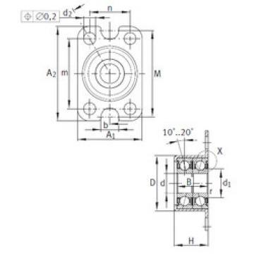 angular contact ball bearing installation ZKLR0624-2Z INA