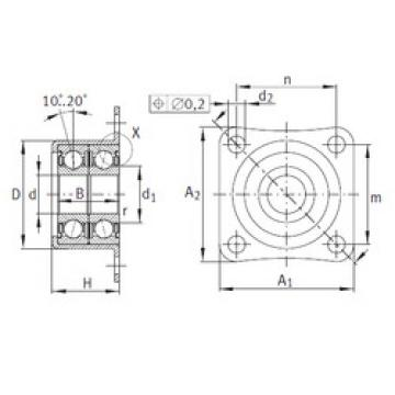 angular contact ball bearing installation ZKLR1035-2Z INA