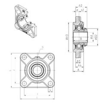 Bearing housed units UKFS328H SNR