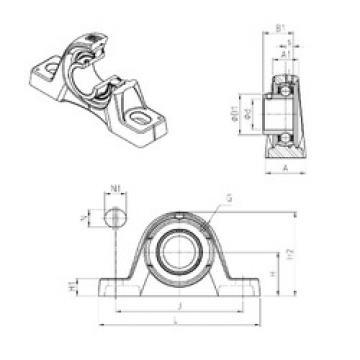 Bearing housed units USPLE203 SNR
