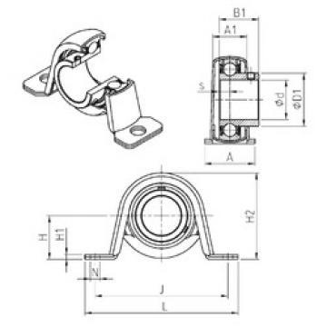 Bearing housed units USPP201 SNR