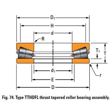 TTHDFL thrust tapered roller bearing T15501