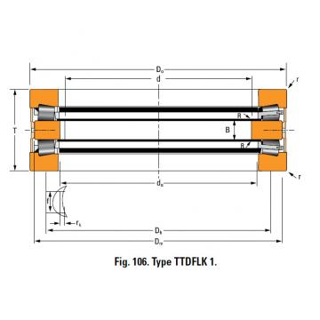 THRUST ROLLER BEARING TYPES TTDWK AND TTDFLK A6881A Thrust Race Double