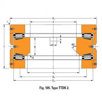 THRUST ROLLER BEARING TYPES TTDWK AND TTDFLK T9130FW Thrust Race Double