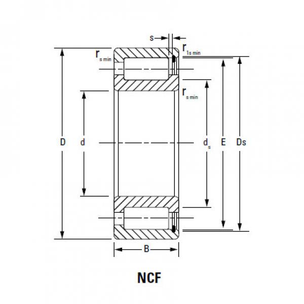 CYLINDRICAL ROLLER BEARINGS FULL COMPLEMENT NCF NCF1864V #4 image