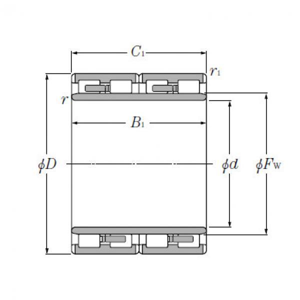Four Row Cylindrical Roller Bearings NTN 4R13603 #5 image